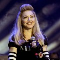 Madonna introduces Avicii as part of Day Two of Ultra Music Festival 14 at Bayfront Park in Miami on March 24, 2012