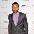 John Legend arrives at The Clarins Million Meals Concert Benefiting FEED Foundationat Alice Tully Hall in New York City on May 30, 2012