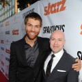 Liam McIntyre and Steven S. DeKnight attend the Starz celebration of Kirk Douglas and the impact of 'Spartacus' at Leonard H. Goldenson Theatreon, Hollywood, May 31, 2012