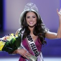 Miss Rhode Island USA Olivia Culpo waves to the crowd after winning the 2012 Miss USA pageant at the Planet Hollywood Resort &amp; Casino in Las Vegas on June 3, 2012