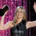 Jennifer Aniston accepts the Best On-Screen Dirtbag award onstage during the 2012 MTV Movie Awards held at Gibson Amphitheatre in Universal City, Calif. on June 3, 2012
