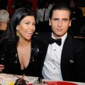 Kourtney Kardashian and Scott Disick celebrate New Year's Eve at the Sugar Factory American Brasserie at the Paris Las Vegas on December 31, 2011