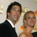 David Schwimmer and Lisa Kudrow at the 54th Annual Emmy Awards, September 22, 2002