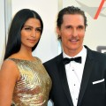 Camila Alves and Matthew McConaughey arrive at the 39th AFI Life Achievement Award Honoring Morgan Freeman in Culver City, Calif. on June 9, 2011