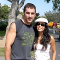 Tyler Christopher & Eva Longoria at the 'Best Friends' Super Pet Adoption Festival at La Brea Tar Pits in Los Angeles, California on October 5, 2003