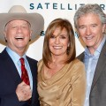 Larry Hagman, Linda Gray and Patrick Duffy visit the SiriusXM Studio, New York City, on June 11, 2012