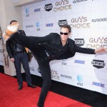 Jean-Claude Van Damme shows off his moves at Spike TV's 6th Annual 'Guys Choice' Awards at Sony Studios in Culver City, Calif., on June 2, 2012