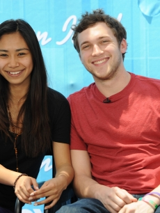 Jessica Sanchez and Phillip Phillips take questions from reporters ahead of the &#8216;American Idol&#8217; Season 11 final, May 21, 2012