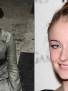 Sophie Turner as Sansa Stark in 'Game of Thrones'; Sophie Turner at the 'GOT' DVD release in London, February 29, 2012
