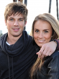Matt Lanter and Angela Stacy attend the '90210' Season 4 Wrap Party at Pink Taco in Los Angeles on March 18, 2012