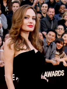 Angelina Jolie arrives at the 84th Annual Academy Awards held at Hollywood & Highland Centre in Hollywood, Calif. on February 26, 2012