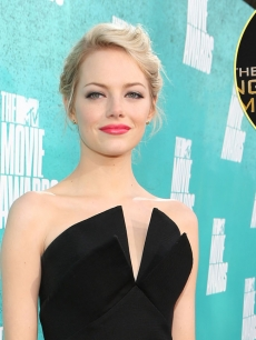 Emma Stone, inset: Jennifer Lawrence