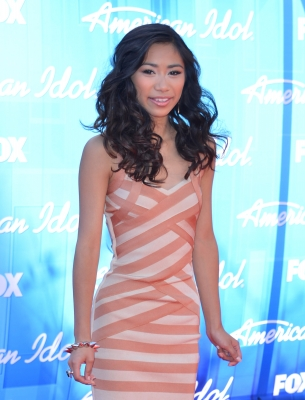 Jessica Sanchez arrives at FOX's 'American Idol 2012' Finale Results Show at Nokia Theatre L.A. Live on May 23, 2012