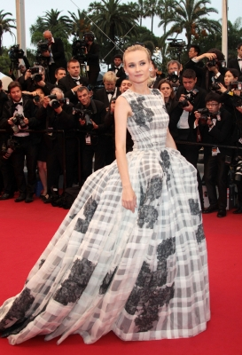Diane Kruger wears a bold gown at the 'Therese Desqueyroux' Premiere during the 65th Annual Cannes Film Festival in Cannes, France on May 27, 2012