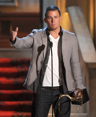 Channing Tatum speaks at Spike TV's 6th Annual 'Guys Choice Awards' at Sony Pictures Studios in Culver City, Calif., on June 2, 2012