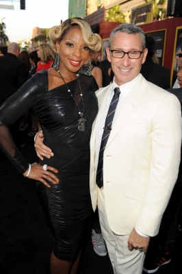 Mary J. Blige and director Adam Shankman arrive at the premiere of 'Rock of Ages' at Grauman's Chinese Theatre in Hollywood on June 8, 2012