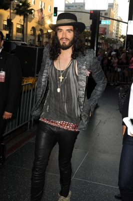 Russell Brand arrives at the premiere of 'Rock of Ages' at Grauman's Chinese Theatre in Hollywood on June 8, 2012