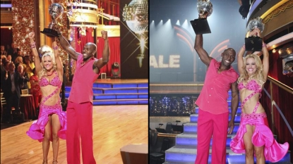 Donald Driver and Peta Murgatroyd celebrate winning 'Dancing with the Stars' Season 14, May 22, 2012