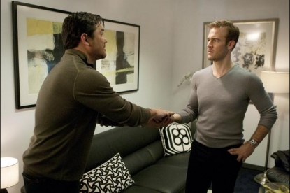 Dean Cain and James Van Der Beek on ABC's 'Don't Trust The B In Apt 23'
