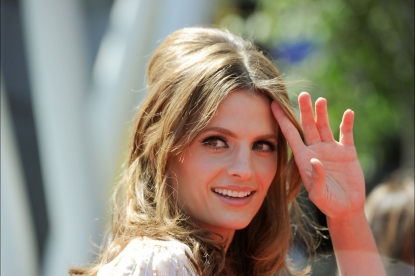 Stana Katic arrives at 62nd Primetime Creative Arts Emmy Awards at the Nokia Theatre L.A. Live in Los Angeles on August 21, 2010