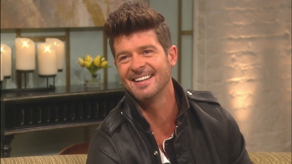 Robin Thicke visits Access Hollywood Live on June 6, 2012