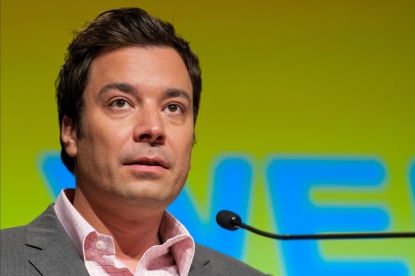 Jimmy Fallon speaks on stage during the 2012 Book Expo America: Adult Book &amp; Author Breakfast at Jacob K. Javits Convention Center, New York City, on June 7, 2012 