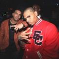 Drake and Chris Brown visit Greenhouse in New York City on August 24, 2010