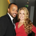 Donald Faison and Cacee Cobb attend an after party celebrating the press night performance of 'All New People' at St Martin's Lane Hotel in London on February 28, 2012