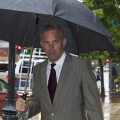 Kevin Costner departs at the end of the day at the U.S. District Court Eastern District Of Louisiana, New Orleans, on June 14, 2012
