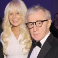 Lindsay Lohan and Woody Allen are spotted at the amfAR New York Gala To Kick Off Fall 2012 Fashion Week at Cipriani Wall Street in New York City on February 8, 2012
