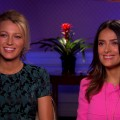 Blake Lively and Salma Hayek talk 'Savages' with Access Hollywood, June 15, 2012