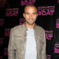 Tony Parker attends the Axe Boat Party Tour photocall on August 1, 2011 in Saint-Tropez, France