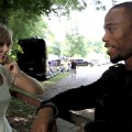 Taylor Swift and B.o.B. on the set of their music video 'Both Of Us'