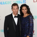 Matthew McConaughey and Camila McConaughey step out at the premiere of 'Magic Mike' during the 2012 Los Angeles Film Festival in Los Angeles on June 24, 2012