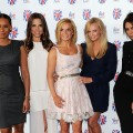 Melanie Brown, Melanie Chisholm, Geri Halliwell, Emma Bunton and Victoria Beckham of the Spice Girls attend launch of new musical based on the Spice Girls' music at St Pancras Renaissance Hotel in London on June 26, 2012