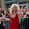 Britney Spears rocks a red mini dress at 'The X Factor' Season 2 auditions at the Dunkin Donuts Center in Providence, Rhode Island on June 27, 2012