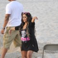 Nicole 'Snooki' Polizzi strikes a pose on the beach while filming 'Jersey Shore' Seaside Heights, NJ, on July 2, 2012
