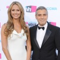 Stacy Keibler and George Clooney arrive at the 17th Annual Critics Choice Movie Awards at The Hollywood Palladium on January 12, 2012 in Los Angeles