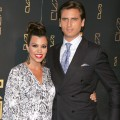Kourtney Kardashian and Scott Disick attend the grand opening of RYU in New York City on April 23, 2012
