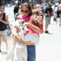 Katie Holmes and Suri Cruise are seen in New York City on July 8, 2012