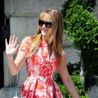 'Hunger Games' beauty Jennifer Lawrence waves as she leaves the Ritz Hotel at Place Vendome, before making her way to Haute-Couture Paris Fashion Week, in Paris, France on July 2, 2012