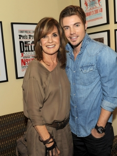 Linda Gray and Josh Henderson attend TNT's 'Dallas' screening and cast appearance Country Music Hall of Fame and Museum at the CMA Music Festival, Nashville, Tenn., on June 9, 2012