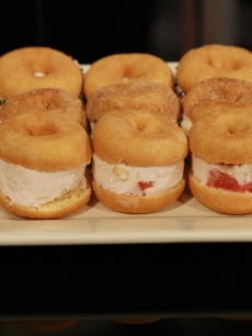 Ice cream donut sandwiches from Mark Addison for Father's Day