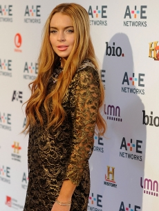 Lindsay Lohan is seen at the A&amp;E Networks 2012 Upfront at Lincoln Center in New York City on May 9, 2012