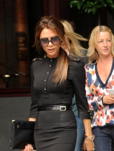Victoria Beckham  leaving the St. Pancras renaissance hotel in London, England on June 26, 2012