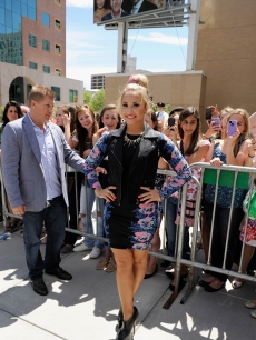 Demi Lovato attends 'The X Factor' Season 2 auditions at the Dunkin Donuts Center in Providence, Rhode Island on June 27, 2012