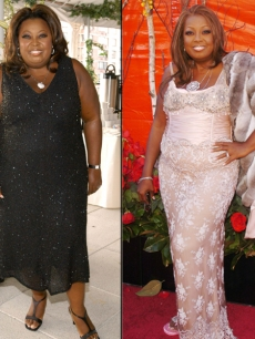 Star Jones in 2003 (right) and in 2004 (left)