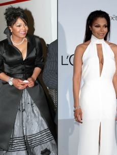 Janet Jackson in 2005 (left) and in 2012 (right)