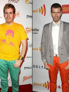 Perez Hilton in 2009 (left) and in 2012 (right)