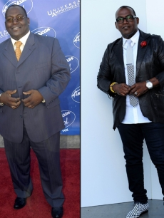 Randy Jackson in 2003 (left) and in 2012 (right)